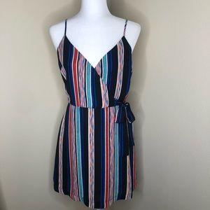 Lush V-Neck Wrap Dress